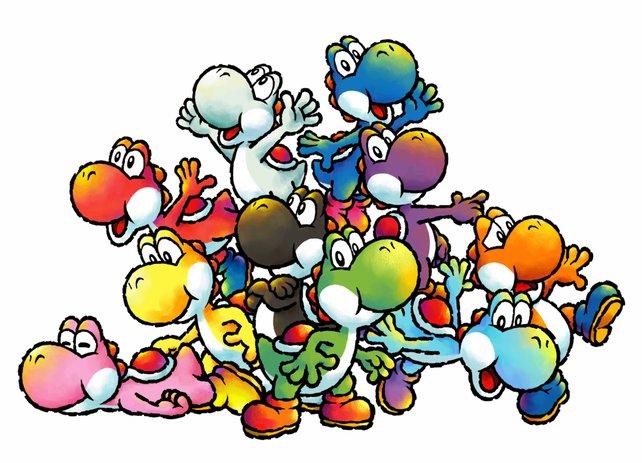 Die Farbvielfalt hat sich bis heute vergrößert. Es existieren mindestens zwölf Yoshi-Schattierungen (die Wollvarianten aus dem neusten Dino-Abenteuer noch gar nicht mitgerechnet).