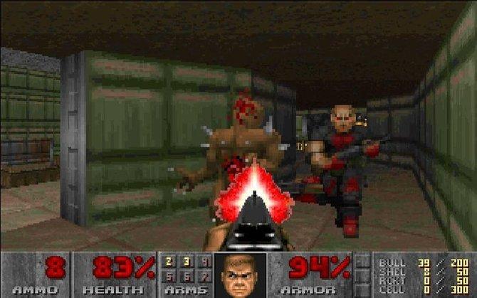 Doom 1 gilt als Meilenstein in der Computerspielszene (Dezember 1993 veröffentlicht).