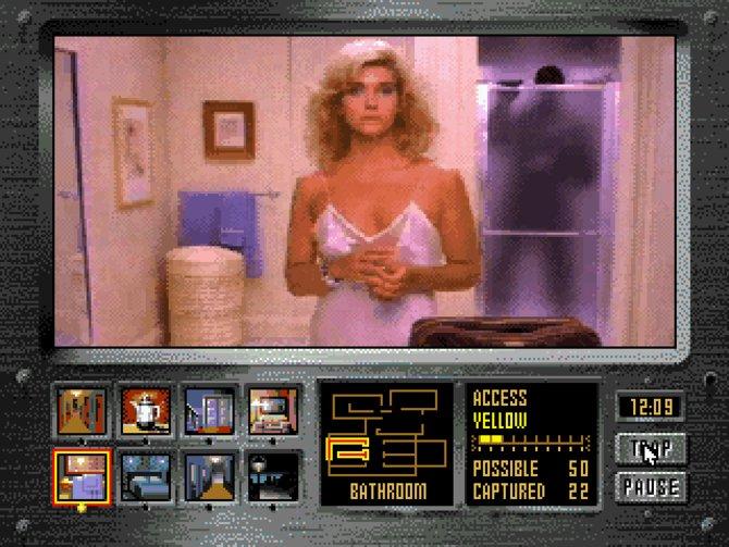 """""""Night Trap"""", eines der ersten Spiele das komplett auf Videosequenzen setzte."""