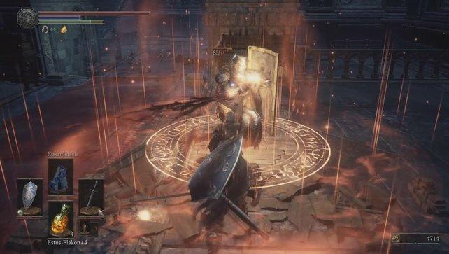 Wirkt der Ritter des Abgrunds Magie oder Zauber, ist er für kurze Zeit ungeschützt.