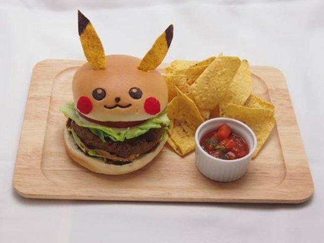 Nur im Pikachu Café erhältlich: Der Pika-Burger.