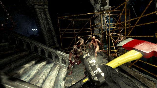 Wenn in Killing Floor - Incursion vier und mehr Gegner gleichzeitig heranstürmen, kriegen VR-Neulinge schon mal Muffensausen.