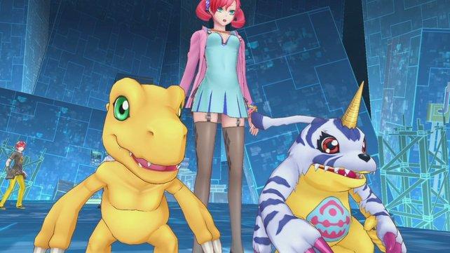 Nokia hat nicht nur lange Beine, sondern auch die mächtigen Digimon Agumon und Gabumon mit dabei.