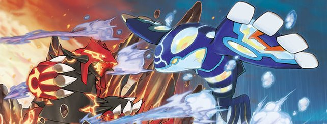 Die beiden legendären Pokémon Groudon und Kyogre.