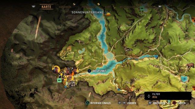 Ansicht des Dorfes --> auf eurer Weltkarte