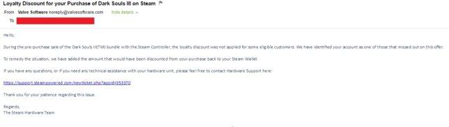 Aufklärung via E-Mail - Steam sogt für klare Verhältnisse. Quelle: Kotaku