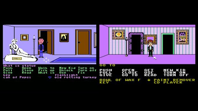 Auf dem NES (rechts) fehlt die nackte Marmorstatue (links). Ob der Held deswegen so traurig schaut? (Bilder von schnittberichte.com)