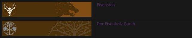 Der Eisenholz-Baum und Eisenstolz: die neuen Embleme im Eisenbanner-Event.