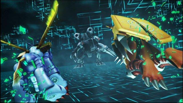 Nur mit vereinten Kräften besiegt ihr die gefährlichen Machinedramons.