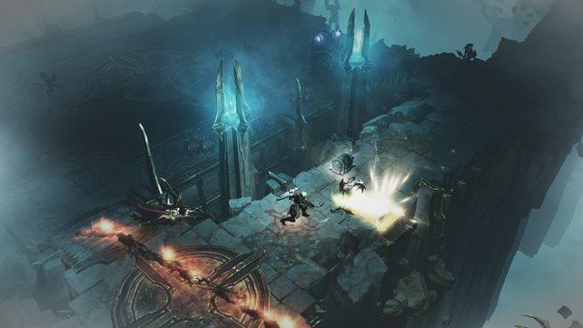 Bläulich und düster wirkt das neue Gebiet in Reaper of Souls.