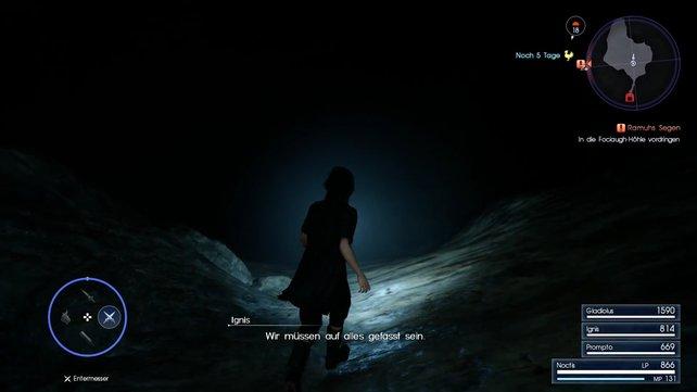 In der Fociaugh-Höhle ist es sehr dunkel.