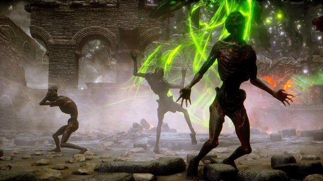 Mit dem richtigen Zauber im Repertoire haben die Zombies nichts mehr zu melden.