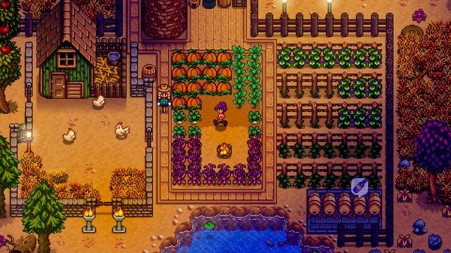 Nach einer Weile müsst ihr euch um eine gigantische Menge Samen und Feldfrüchte kümmern.