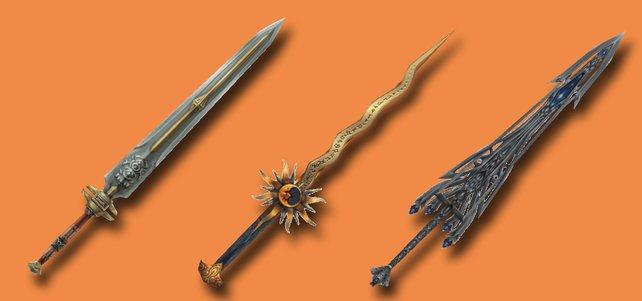 Drei Ritterschwerter aus FF 12 - The Zodiac Age. (Quelle: finalfantasy.wikia.com)