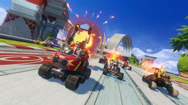 Mario Kart sorgte für viele Nachahmer. Auch Hüpfkonkurrent Sonic versucht sich an den Rasereien.