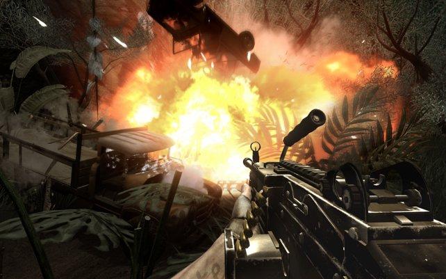 Far Cry 2 bot tolle Effekte, die offene Spielwelt konnte hingegen nicht überzeugen.
