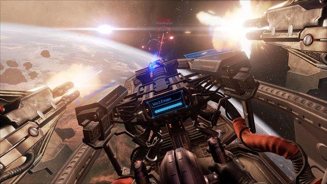 Wilde Weltraumschlachten wie diese könnten bald wieder in der Mitte der Spielergemeinde ankommen (Bild: Eve - Valkyrie)