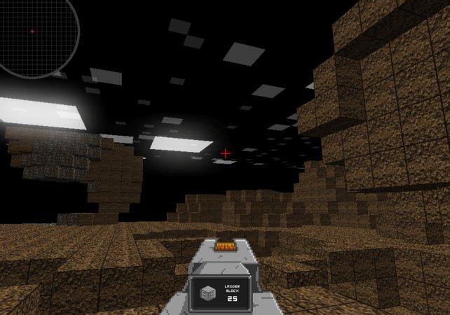 Unendliche Blockwelten: Das hier ist nicht Minecraft, sondern dessen ideologischer Vorläufer Infiniminer.