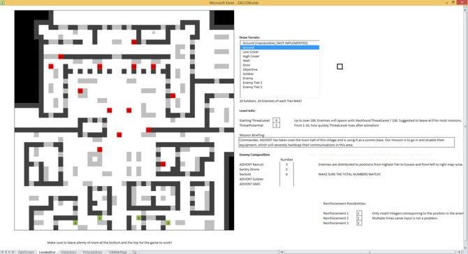 Sieht das nicht das toll aus? Ja, das ist EXLCOM. Und es basiert auf XCOM. Und ihr könnt es in Excel spielen.