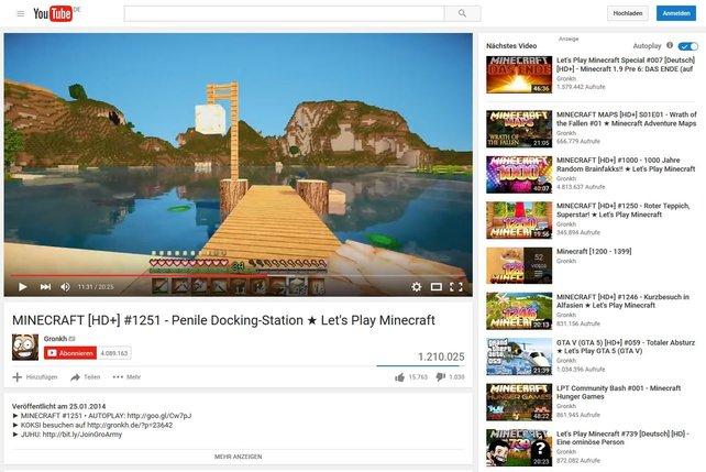 Let's Play Minecraft zählt zu den Video-Formaten, mit denen sich Youtuber Gronkh einen Namen gemacht hat.