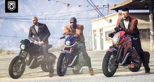 Pegassi FCR 1000 für die Gang: Mit dem Update könnt ihr euch auch ein neues Motorrad kaufen.