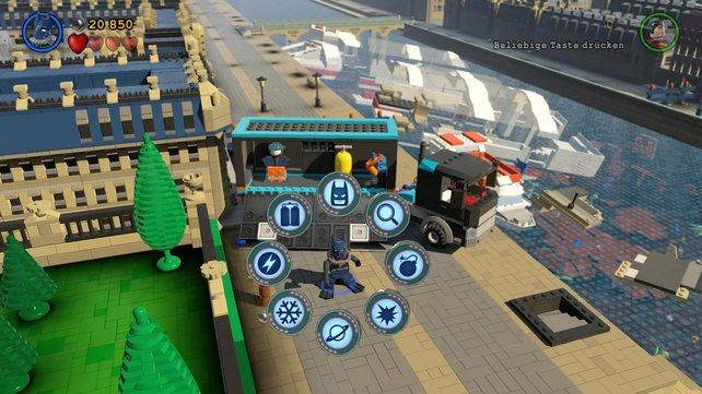 Geschafft: Lego-Batman hat seine sieben zusätzlichen Anzüge gesammelt.