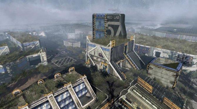 """Die Karte """"Zone 18"""" spielt in einer heruntergekommenen Militärbasis, die für geheime Forschungsprojekte genutzt wird."""