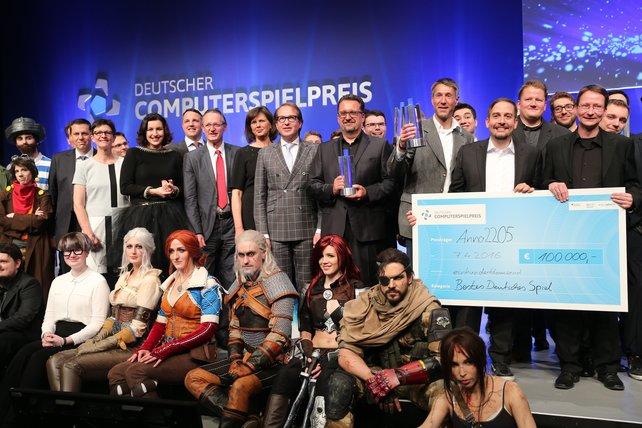 Die Gewinner des Deutschen Computerspielpreises 2016. Bildquelle: Gisela Schober/Getty Images