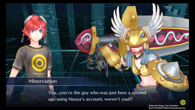 Minervamon spielt in Naoyas Chat verrückt.