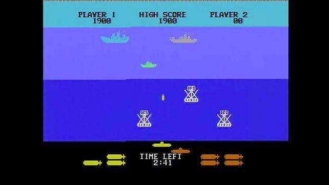 Aus der Tiefsee heraus ballert ihr eure Geschosse zu den Schiffen an der Oberfläche.