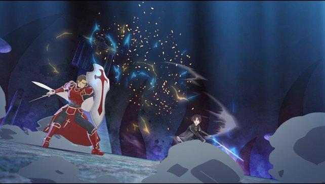 Auf Ebene 75 besiegt Kirito den Entwickler Heathcliff, sein einstiges Vorbild.
