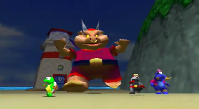 Wizpig, die fieseste Sau aller Zeiten, ist der Endboss in Diddy Kong Racing.