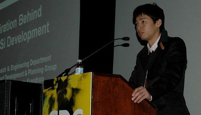 Masato Kuwahara ist äußerst nervös, als er seinen Kollegen den DSi-Prototyp präsentiert.