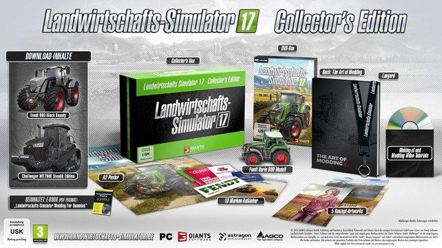 LS17 - Collector's Edition: Alle Inhalte im Bild.
