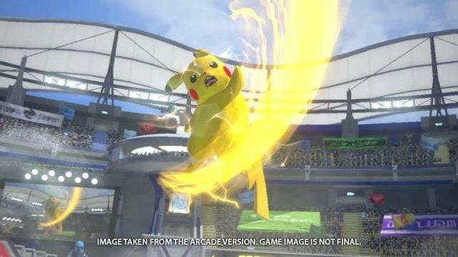 Pikachu, Gengar, Machomei und Glurak vertreten die Riege der ersten Pokémon-Generation.