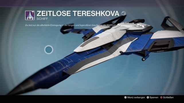Zeitlose Tereshkova: Ein schönes Schiff mit außergewöhnlichem Design.