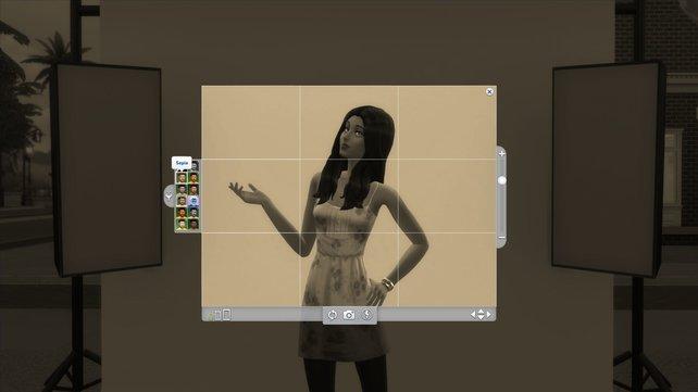 Es gibt nun auch unsinnige Filter für die Sims, die dümmliche Posen vor der Kamera ziehen. Warum auch nicht.