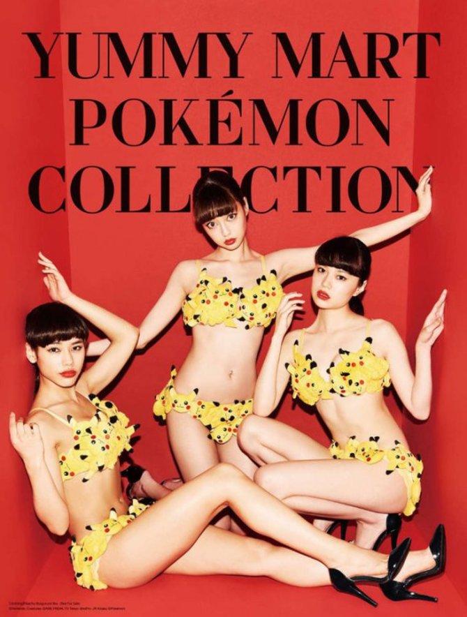 Zum 20-jährigen Jubiläum der Marke Pokémon veröffentlicht der japanische Unterwäsche-Hersteller Yummy Mart eine spezielle Kollektion.