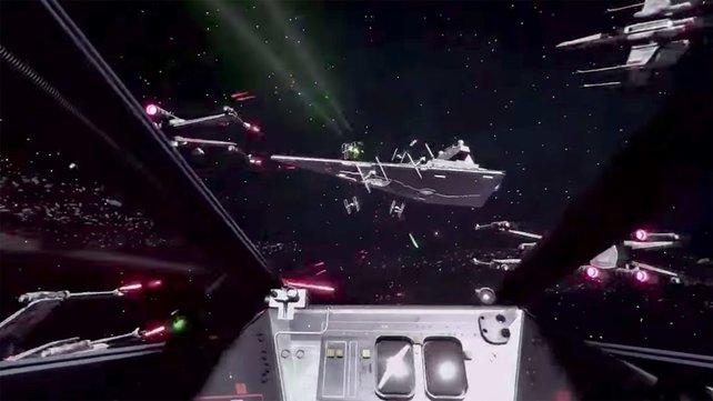 Beim Kampf gegen das Imperium fühlt ihr euch wie ein echter X-Wing-Pilot.