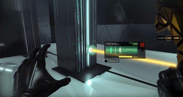Manche Firewalls sind schwerer zu hacken, dann bewegt sich der Balken schneller!