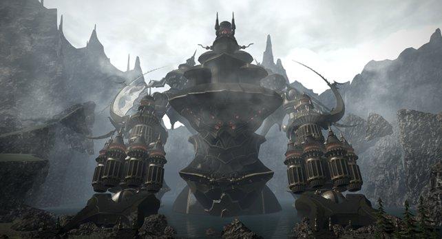 Mit dem Riesen-Roboter Alexander wird euch ein heftiger Endgegner präsentiert.