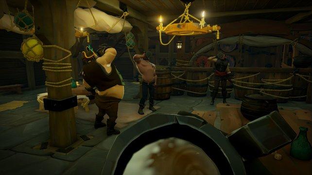 Nicht vergessen: Das Saufen ist ein fester Bestandteil des Piraten-Alltags.