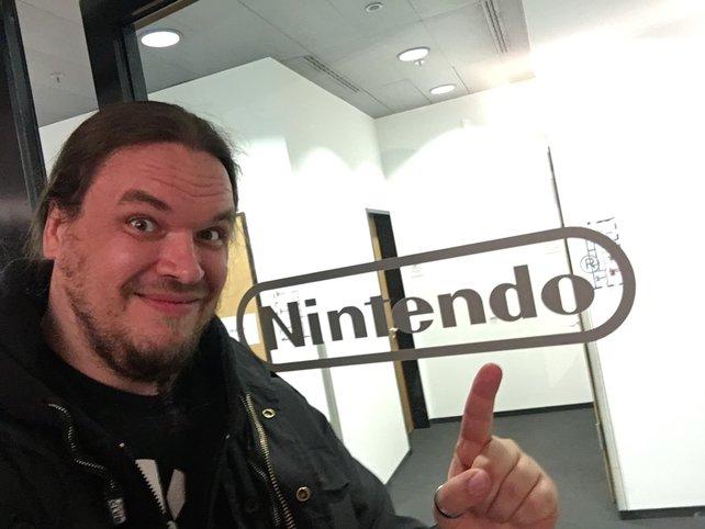 Onkel Jo zu Besuch in Frankfurt bei Nintendo.