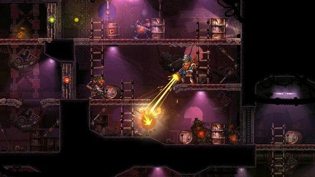 In Steamworld Heist wird auch scharf geschossen.