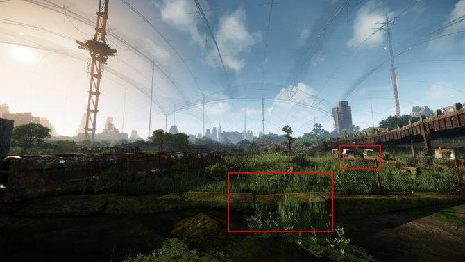 Hier seht ihr ein Außenareal aus Crysis 3 in 12k-Auflösung. Achtet auf die Rechtecke ...