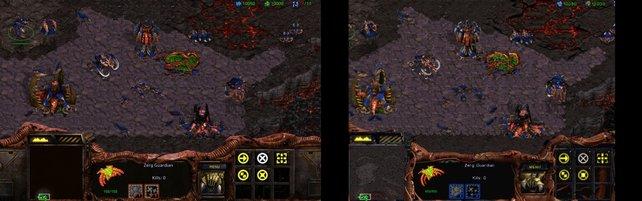 Hier zeigt sich die Veränderung klar: Links die HD-Version, rechts das Original: