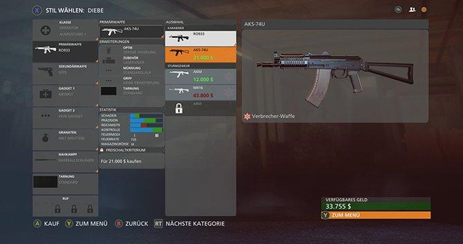 Battlefield Hardline: Jede Fraktion verfügt über eigene Waffen.