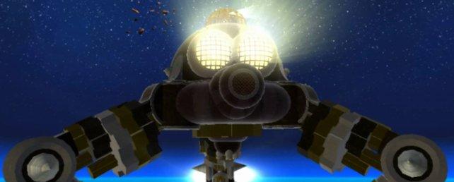 Das ist der Boss Megaleg in Super Mario Galaxy.