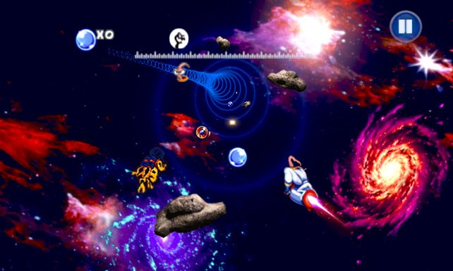 Wie Earthworm Jim im Weltraum atmen kann? Keine Ahnung, hauptsache der Ritt auf der Pocket Rocket macht Spaß!