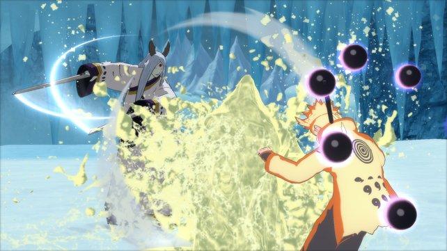 Die Umgebungen bestimmen, welche Angriffe sich von Kaguya Otsutsuki gegen Naruto lohnen.